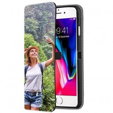 iPhone 8 - Coque Portefeuille Personnalisée (Sur L'avant)